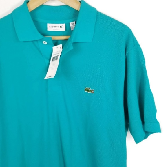 online store 04df1 8f8e3 lacoste herren regular fit polo shirt size large 5 NWT